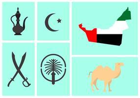 Vektor uppsättning UAE-symboler