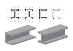 Vektor illustration av stålbjälkar