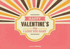Retro Valentinstag lllustration vektor