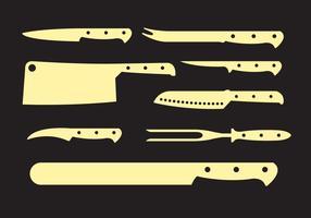 Vektor uppsättning knivar