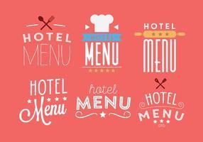 Vektor uppsättning av hotellmeny