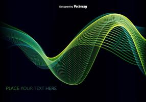 Abstrakte grüne / blaue Welle vektor