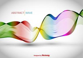 Färgrik abstrakt våg