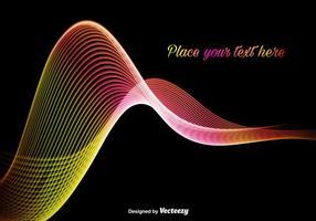 Abstrakte bunte und helle Welle vektor