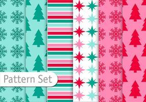 Decoratice Weihnachtsmuster Set vektor