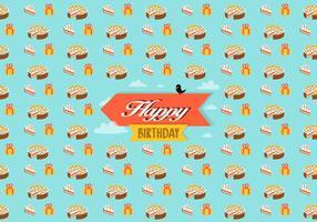 Födelsedag mönster bakgrund vektor
