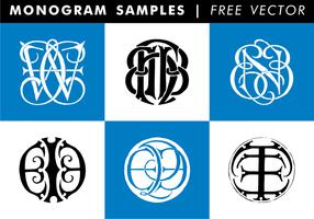 Monogramm Proben kostenloser Vektor