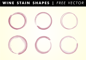 Wein Stain Shapes Free Vector