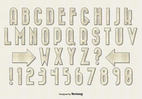 Retro Weinlese-Art-Alphabet-Satz vektor