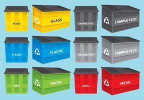 Müllcontainer-Vektoren
