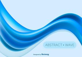 Blå abstrakt våg vektor