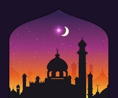 Gratis vektor arabiska nätter bakgrund