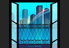 Free City View Vektor-Illustration vektor