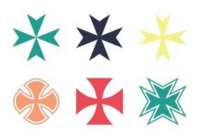 Kostenlose Malteser Kreuz Vektor Icon