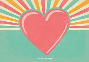 Gamla Retro Alla hjärtans dag bakgrund vektor