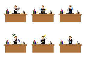 Kostenlose Barman Vektor