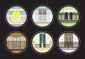 Verschiedene Balkone
