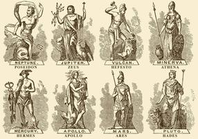 Griechische Götter vektor