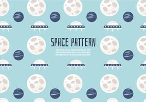 Free Cute Space Pattern Vektor Hintergrund