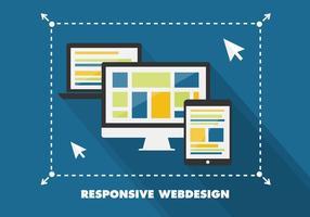 Free Flat Responsive Web Design Vektor Hintergrund