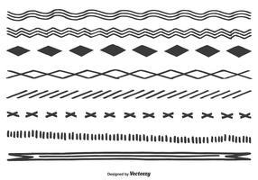 Nette Hand gezeichnete Ränder vektor