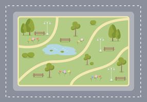 Freier Park Vektor