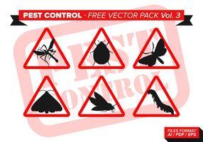 Schädlingsbekämpfung Free Vector Pack Vol. 3