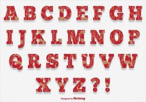Skrapad färgstil Alfabet vektor