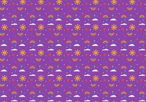 Freie Ballons und Regenbogen Muster Vektor