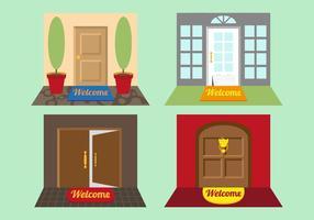 Välkommen Mat Illustrationer vektor