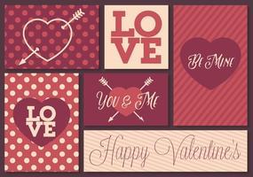 Retro Valentinstag-Elemente