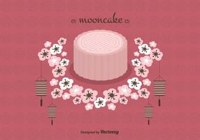 Mooncake Vector Bakgrund
