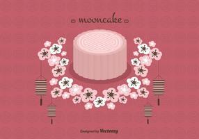 Mooncake Vektor Hintergrund