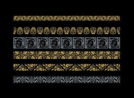 Dekorative Arabesco Vektor Grenzen