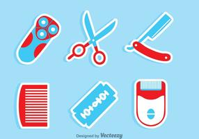 Barberverktygssats vektor