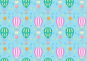 Heißluft-Ballon-Muster-Vektor