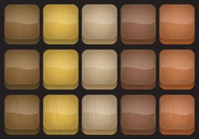 Holz App Button Vektoren