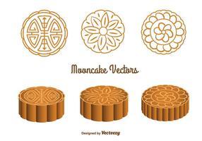 Nette Mooncake Vektoren