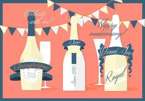 Free Verschiedene Moderne flache Champagner Vektor Hintergrund