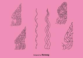 Gratis thailändsk mönster vektor ikon pack