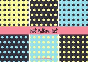 Einfache Neon Punkt Muster Vektor Set