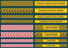 Polizei-Linienbandvektoren