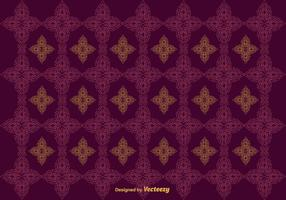Free Marroon Floral Thai Muster Vektor