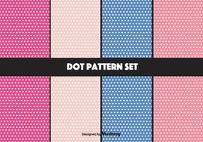 Girly Vektor Dot Pattern Set
