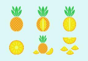 Freies Ananas-Vektor-Pack