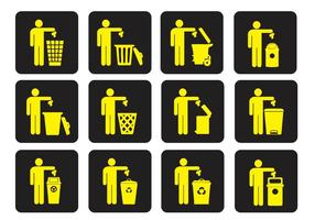 Müllcontainer-Trash-Vektoren