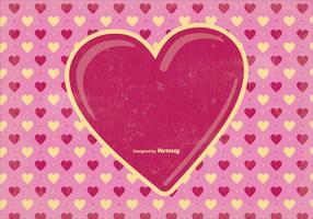 Alte Valentinstag Hintergrund Illustration