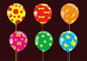 Roliga ballonger vektorer