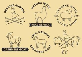 Wolle Und Kaschmir Vektor Logos