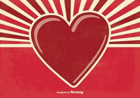 Retro Alla hjärtans dag illustration